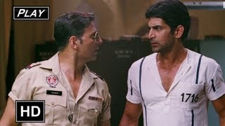Khiladi 786 - Bahattar Singh Rescues Azad From The Police - Khiladi 786