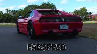 Ferrari 348 w/ Fabspeed sport racing bypass pipes  *flybys* (WATCH IN HD)