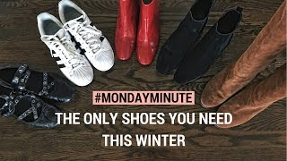 The 5 Shoes You Need This Winter | #MondayMinute | Style Operator