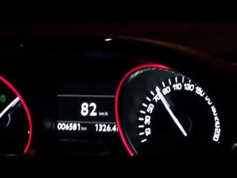Peugeot 208 GTi 0-222 (accelaration 208 GTi)