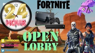 13 HOURS OF PLAYING WITH SUBSCRIBERS / OPEN LOBBY / XBOX ONE / FORTNITE LIVE / NOT FAMILY FRIENDLY