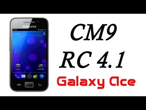 Ice Cream Sandwich Android 4.0.4 para Galaxy Ace [CM9 RC 4.1] HD