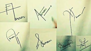 "How to Draw Signature like a Billionaire (For Alphabet ""A"")"