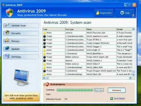 How Antivirus 2009 Infects Your Computer