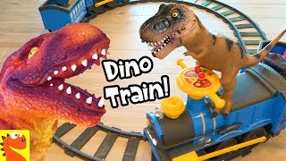 Learn DINOSAURS! Kids Real Ride a Train Set by GoGo Dino