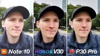 Honor V30 vs Xiaomi Mi Note 10 / P30 Pro - CAMERA TEST