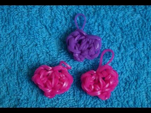Плетение сердечка из резиночек