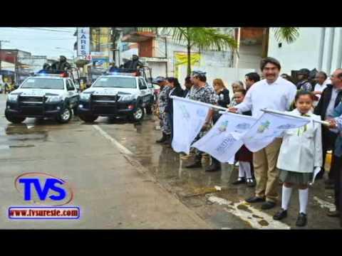 TVS Noticias.- En Minatitlan Autoridades Inauguran La Campaña De Seguridad Vial, Movilidad Segura