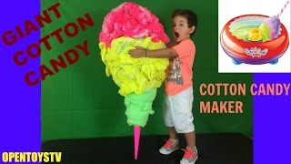 Giant Cotton Candy!! Cotton Candy Maker Cra Z Art Led Zuckerwatte Algodão doce gigante