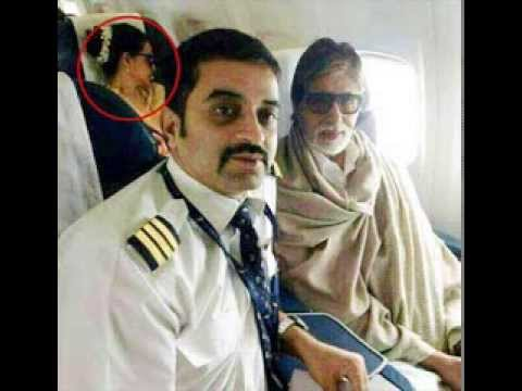 Amitabh Bachan and Rekha in an Aeroplane Journey 2013 - GREAT...