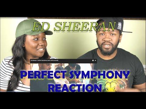 Ed Sheeran Perfect Symphony with Andrea Bocelli Reacton