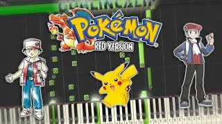 Pokemon Red, Blue, Yellow - Trainer Battle Theme Piano Tutorial Synthesia
