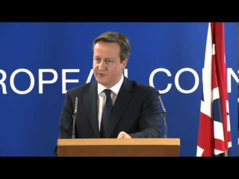 European Summit - UK Prime Minister David Cameron on crisis in Ukraine