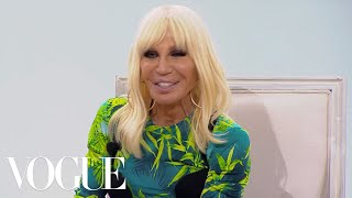 Donatella Versace on JLo's Dress, American Politics and Being Compared to Gianni | Vogue