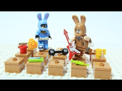 Lego Batman Bunnies Play Bricks Memory Game Superhero Animation Cartoon