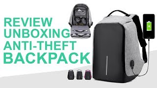 Backpack Unboxing - Anti theft Gadget with USB Support Bag 2018