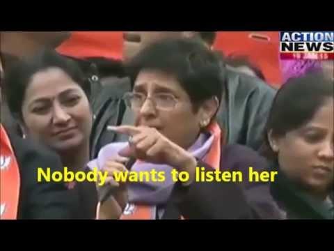 Confused Kiran Bedi in Roadshow