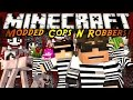 Minecraft Mini-Game : MODDED COPS N ROBBERS! CREEPY PASTA!