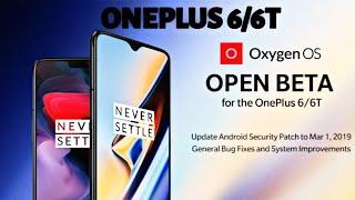 OnePlus 6/6T Oxygen OS Open Beta 14 - 6 Official OTA Update
