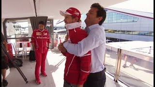 F1 2017 British GP - When Mark Webber met Sebastian Vettel