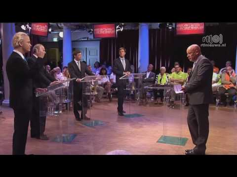 premiersdebat: Geert Wilders biedt excuses aan marokanen en balkenende reden voor falen als leider