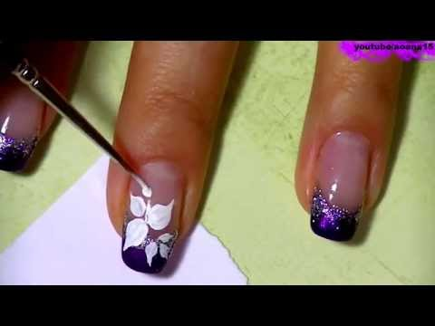 Рисовать рисунки на ногте видео