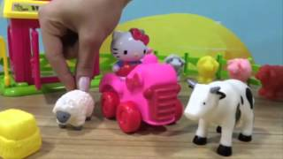 Hello kitty çiftlik oyuncakları oynama-Happy Farm Old Mac Donald Song