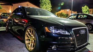 Modified B8 Audi S4 - (Angeles Forest Hwy) One Take