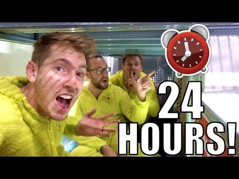24 HOUR FORT OVERNIGHT CHALLENGE IN WALMART!