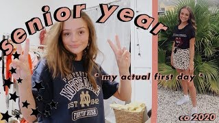 my first day of senior year (grwm)