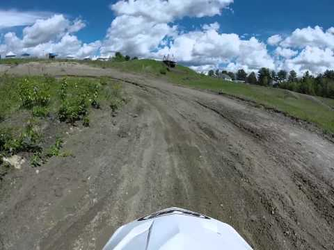 Eric Franklin Jr. Racing his KTM 50cc in 65cc Class in Canaan, NH