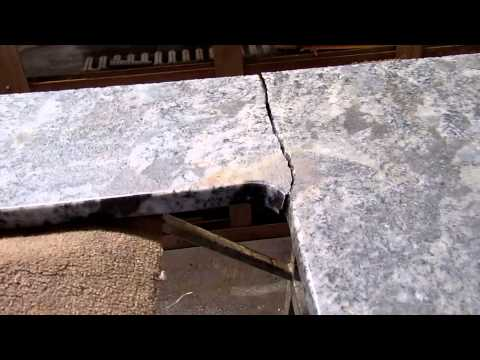 How to fix cracked granite