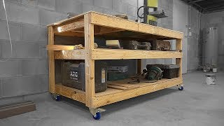 Mobile Workbench/Assembly Table From 2x4s/Structural Pine