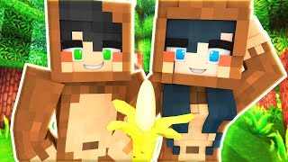 WE TURN INTO MONKEYS! MINECRAFT MONKEY SIMULATOR!