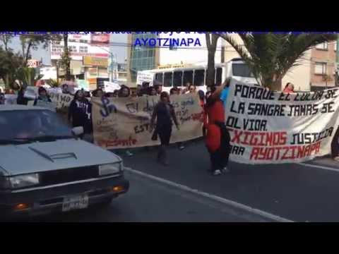 MARCHA EN TOLUCA EN APOYO A ESTUDIANTES DE AYOTZINAPA