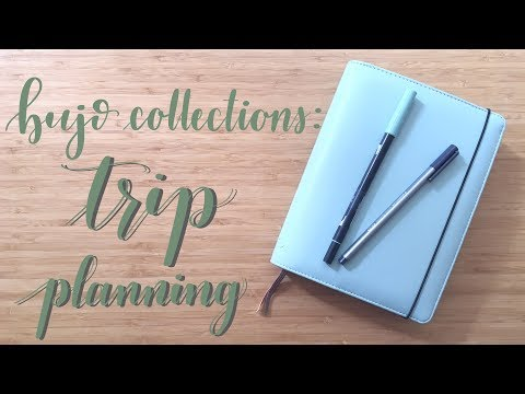 Bullet Journal Collections | Plan With Me | Trip Planning
