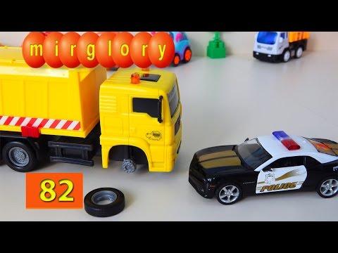 Машинки мультфильм - Город машинок 82 серия: Ремонт мусоровоза. Развивающие мультики mirglory
