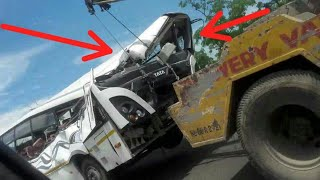 Death accident / TATA marcopolo Ultra bus / i travelled with  yesterday