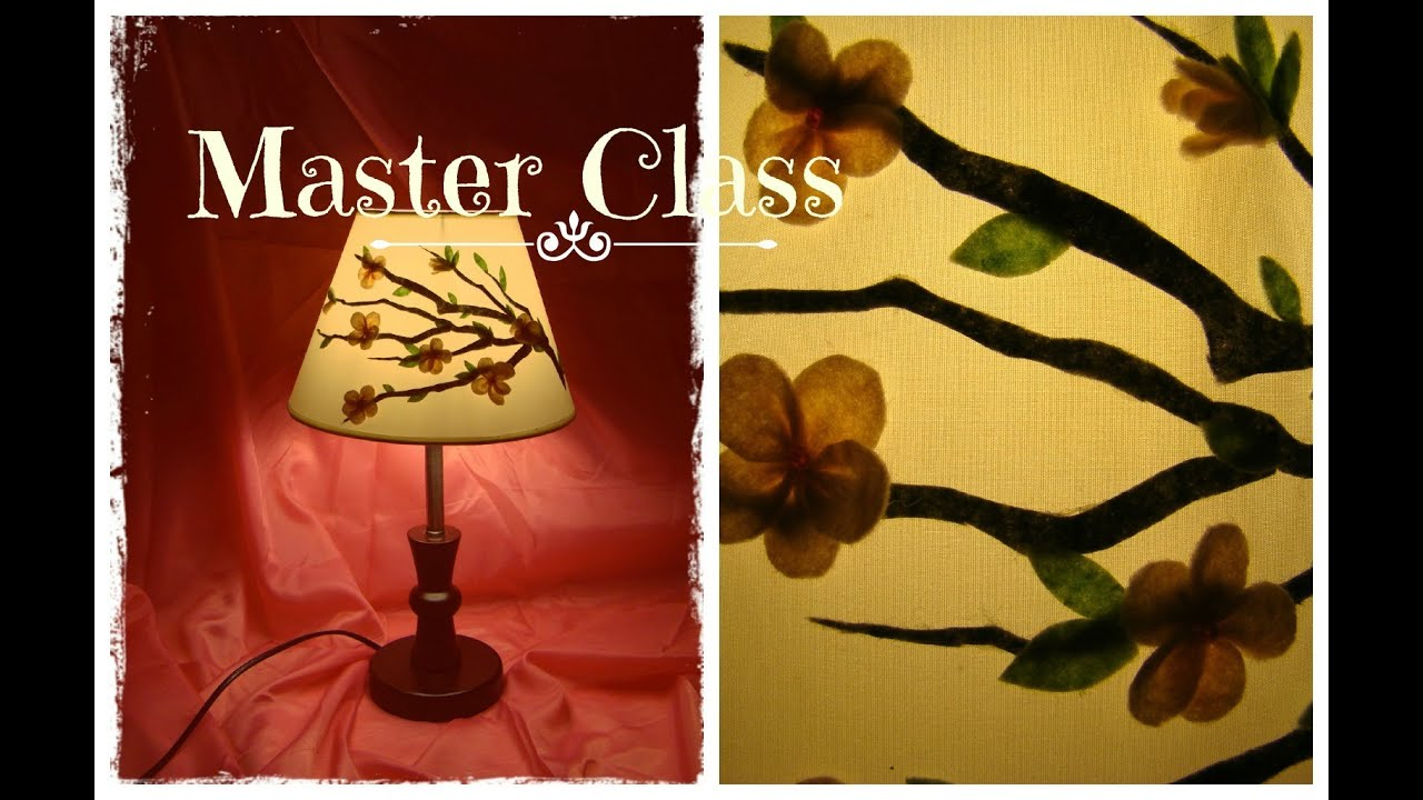 Мастер класс лампы своими руками