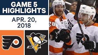 NHL Highlights   Flyers vs. Penguins, Game 5 - Apr. 20, 2018