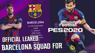 Official PES 2020 Barcelona Players Overall Ratings