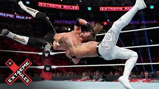 AJ Styles plants Ricochet with a vicious brainbuster: WWE Extreme Rules 2019 (WWE Network)
