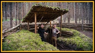 "Bushcraft Camp: Das Grubenhaus ""Moos Edition"" - Outdoor Bushcraft Deutschland"