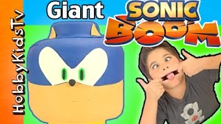 We do a SONIC BOOM Makeover on Giant Lego Head but whats inside?