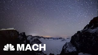 Geminid Meteor Shower Over Remote Chinese Mountains | Mach | NBC News