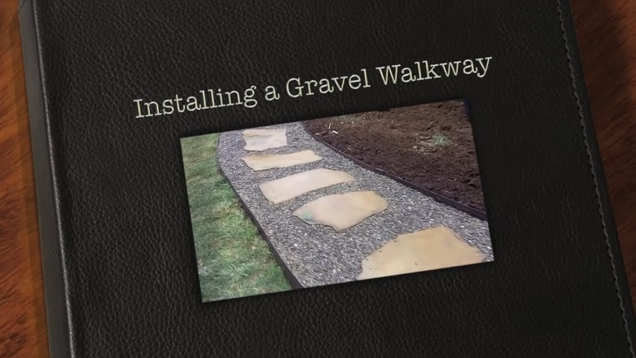 Installing a river rock walking path youtube for How to build a river rock patio