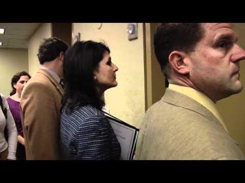 RAW: Haley side steps media on health reform issue
