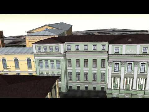 Herzen University 3D map demonstration