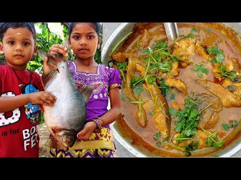 KIDS Cooking Fish Curry Recipe | Tasty Fish Curry | Kids Village Food