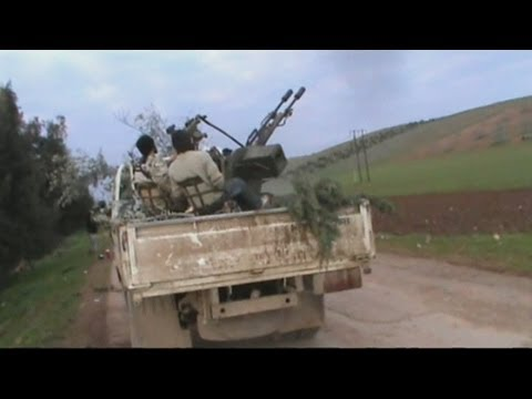 Syrian rebels 'shoot down' plane: Amateur video